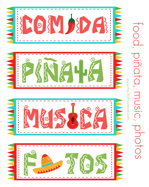 Fiesta Party Kit Printable The 36th Avenue Fiestas De