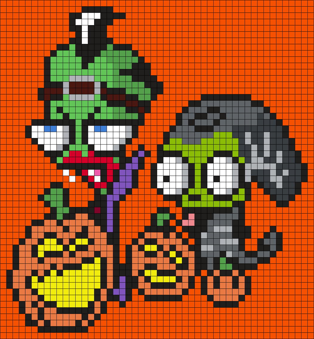 Halloween Zim And Gir From Invader Zim by Maninthebook on Kandi ...