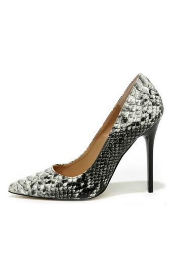 be5f65c1f7b Are you ready to make a statement in the OhNice Snakeskin Heel from ...