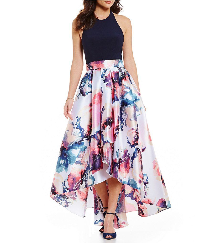 4defc65570d Ignite Evenings Halter Hi-Low Floral-Print Dress. Perfect for prom 2017