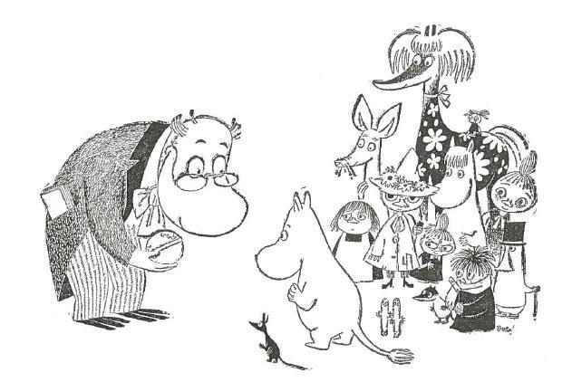 Muumit Yhdyspankki Kuvasarjassa 1956 Muumi Piirrokset Piirtamisohjeita