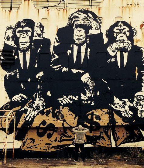 Three Wise Monkeys Monkey Art Wise Monkeys Three Wise Monkeys
