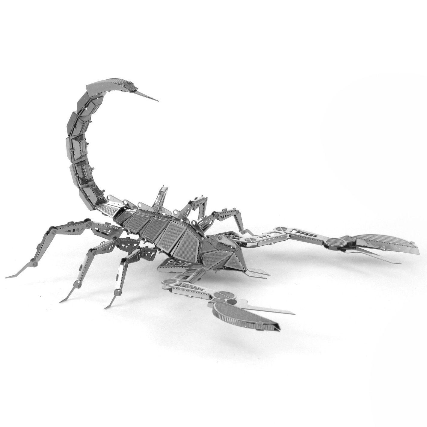 DIY Metal 3D Miniature Scorpion Model Kids Puzzle Toys Jigsaw