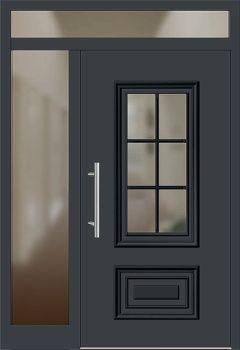 Haustüren mit breitem seitenteil  Aluminium Haustür Modell 217-15 anthrazitgrau mit Seitenteil links ...