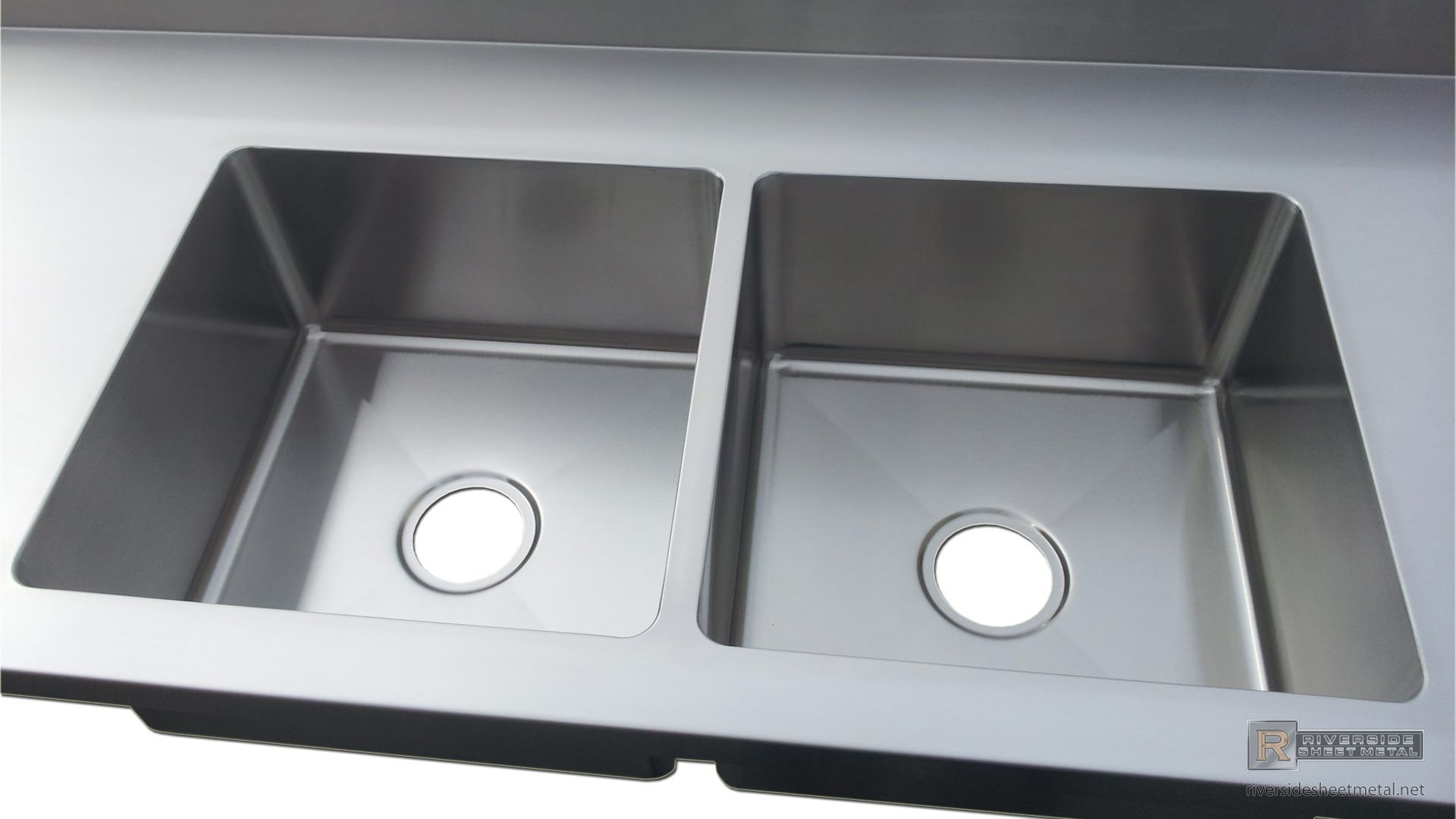 2 Integrated Sinks On Number 4 Finish Counter Top Detail Stainless Steel Counters Countertops Diy Countertops