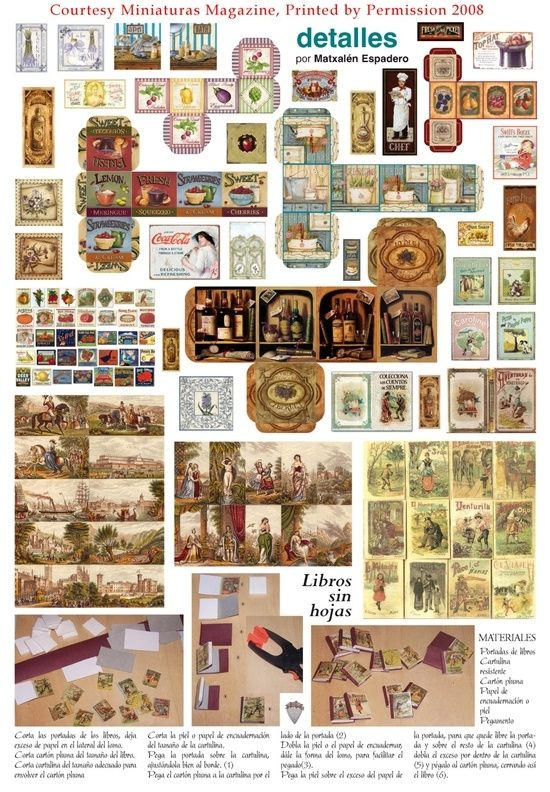 Mini printables by christy1 Mini Books Miniatures, Dollhouse