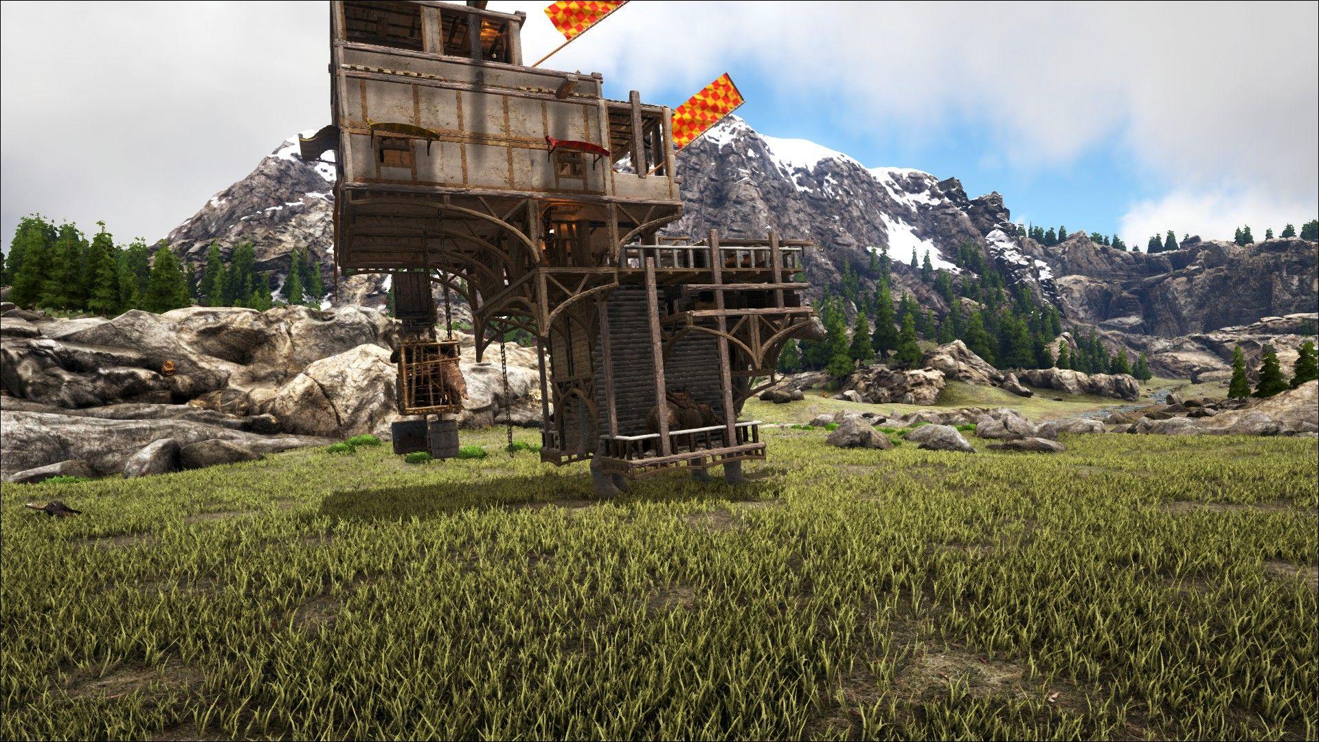 Charming Ark, Paracer Platform Base, Trader, Nomadic Tribe, Platform Base Design