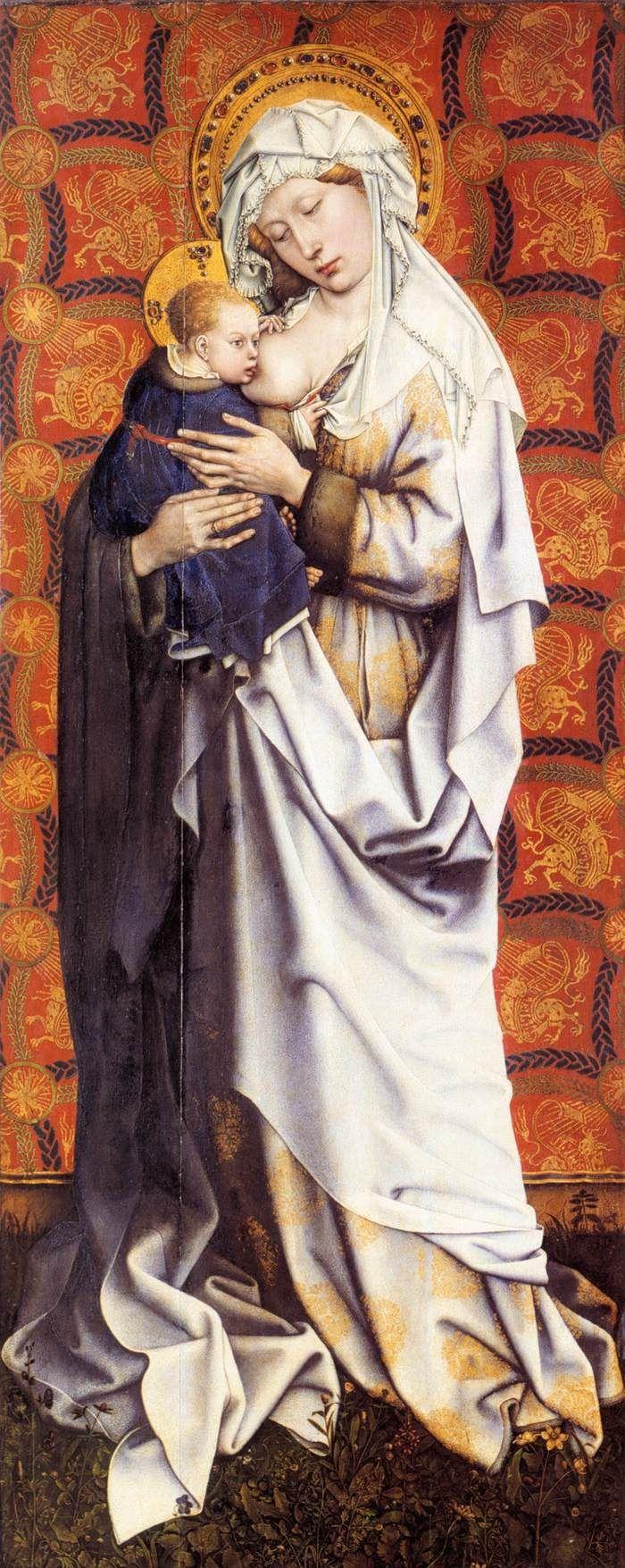 ROBERT CAMPIN (1375 - 1444) |  Virgin and Child - Stadelsches Kunstinstitut, Frankfurt,Germany