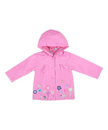 Take+a+look+at+this+Pink+Floral+Raincoat+-+Infant+&+Toddler+on+zulily+today!