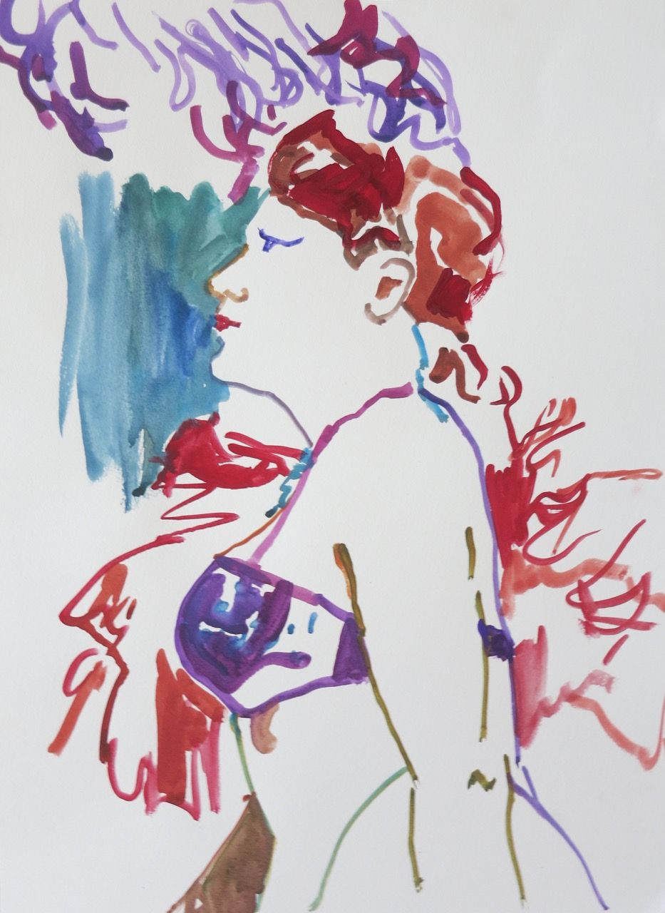 Watercolor artists names - Artist Name Sklaroff Collection Name Watercolors Art Name Showgirl With