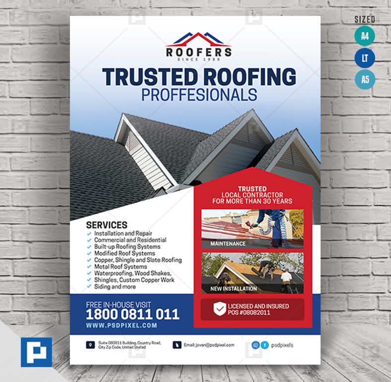 Roofing Professional Services Flyer Psdpixel In 2020 Roofing Roofing Services Roofing Systems