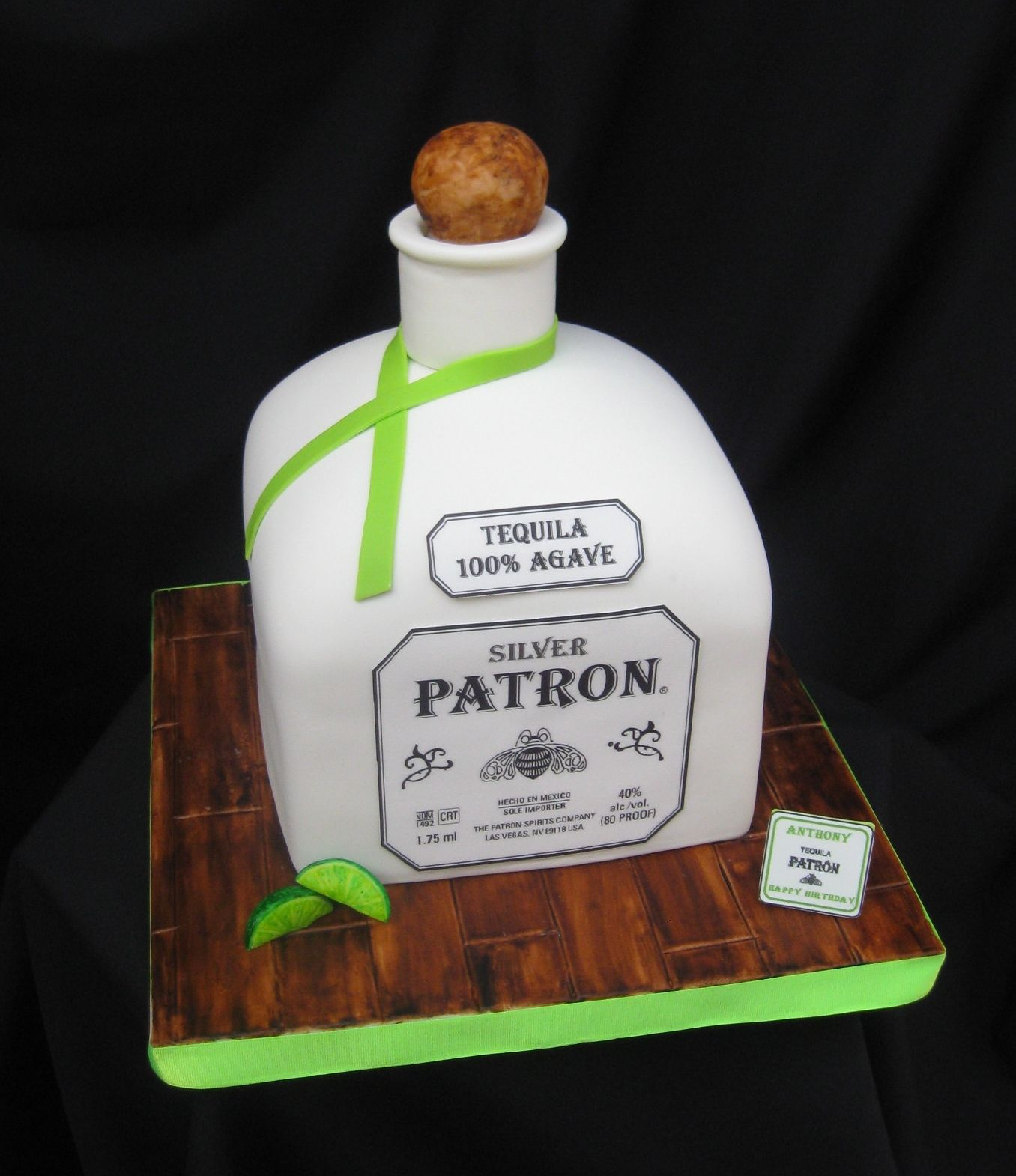 Patron Cake Is 5 2 Quot 8x8 Square Banana Cake Carved With