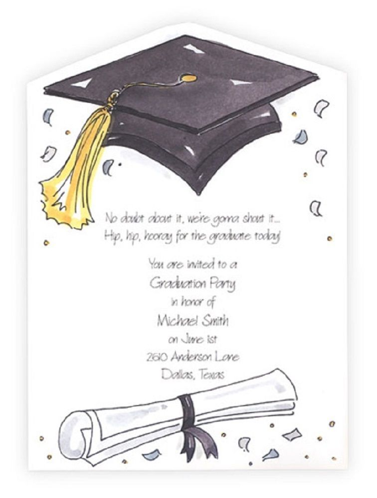 graphic about Printable Graduation Party Invitations titled Pin upon Occasion Invitation Card