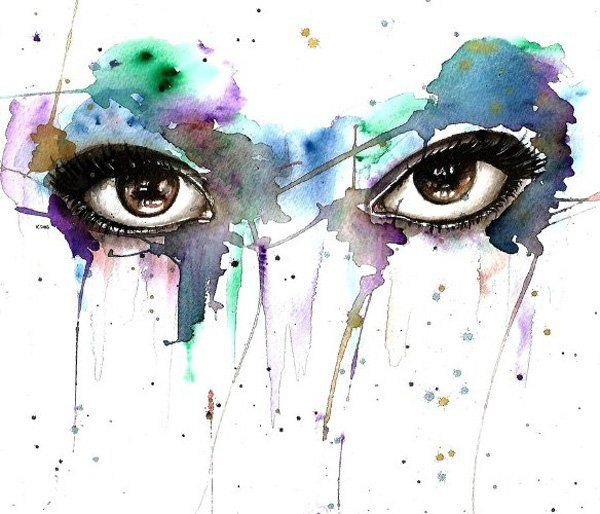 30 Expressive Drawings of Eyes | Watercolor eyes, Watercolor and ...