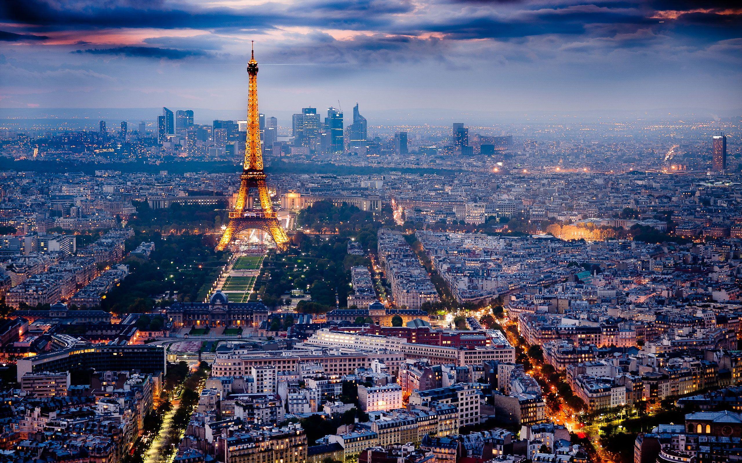 Landscape Paris Night View Hd Wallpaper Paris At Night Most Beautiful Cities Paris City