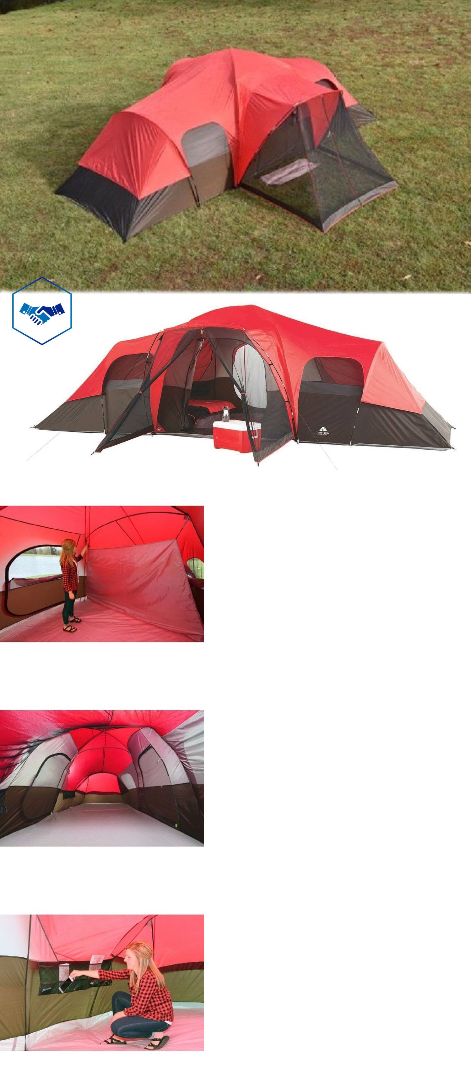Tents 179010 Ozark Trail Family Tent 10 Person Outdoor C&ing Instant Cabin Shelter Hiking -  sc 1 st  Pinterest & Tents 179010: Ozark Trail Family Tent 10 Person Outdoor Camping ...