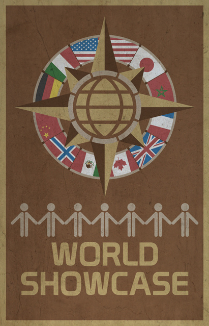 EPCOT's World Showcase Poster