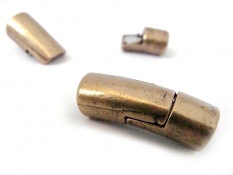 Descripción: cierre iman capuchón 6mm oro viejo o plata vieja.