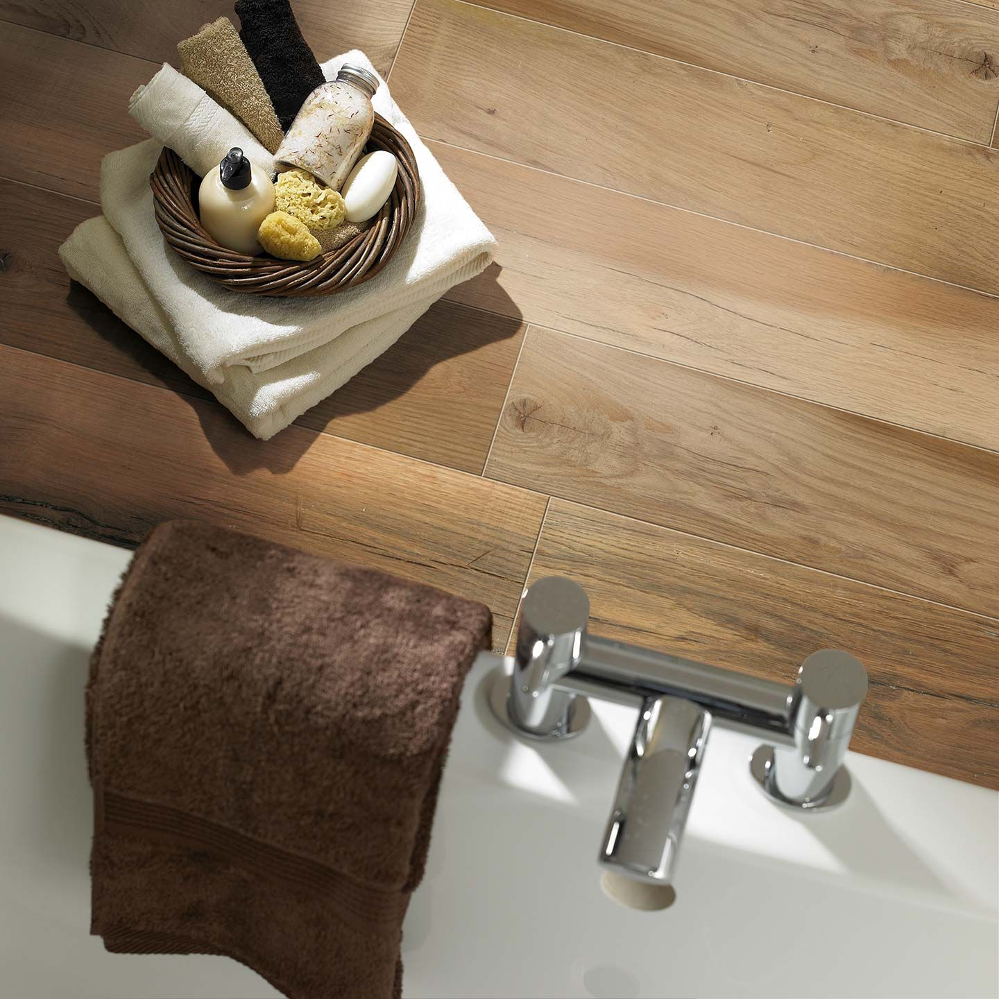 Florim pier wood look porcelain tile flooring in cocoa provides a florim pier wood look porcelain tile flooring in cocoa provides a warm blend of rustic and traditional wood look flooring with the benefits of porcelain dailygadgetfo Images