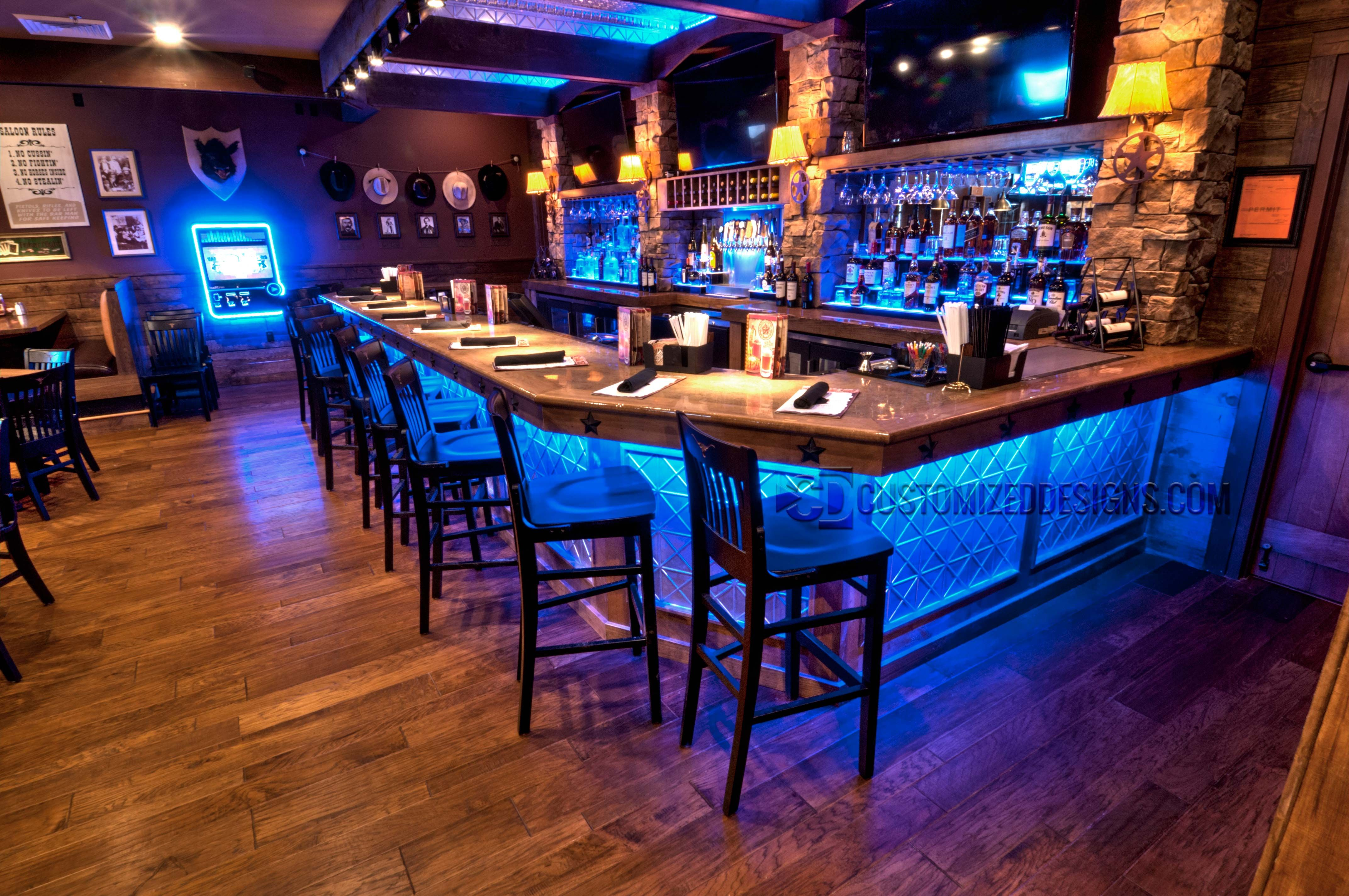 Our Gallery Is Filled With Hundreds Of Pictures Of Liquor Displays, Bar  Shelving, Portable Bars And An Array Of Custom LED Products. Check It Out!