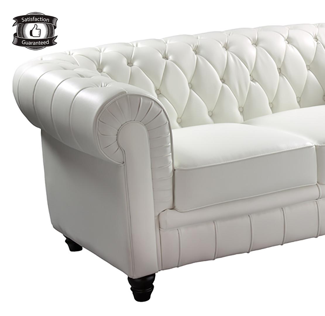 Exclusivo #sofá #chéster de 2 plazas capitoné blanco - REGALONIA.ES