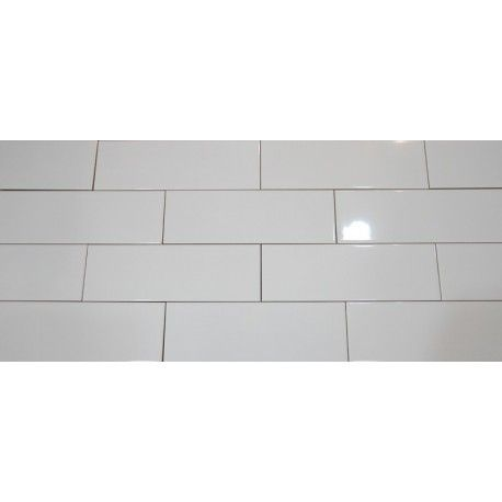 White Gloss Non Rectified Subway Ceramic 300x100 White Gloss White Ceramic Tiles