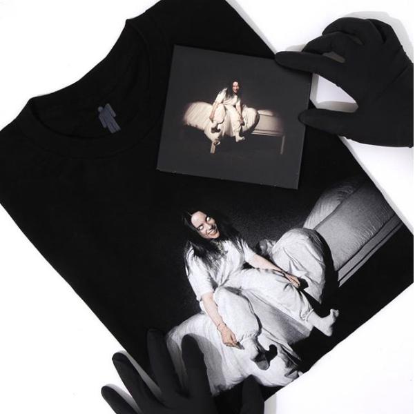 Unisex Billie Eilish When We All Fall Asleep Where Do We Go Round Necklace Hoodie Sweatshirt for Fans