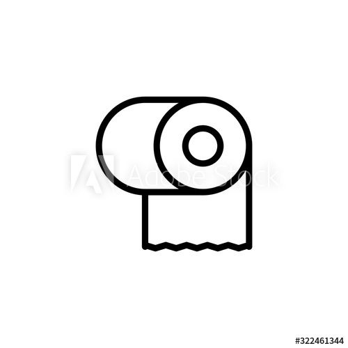 Simple toilet paper line icon. , #Ad, #toilet, #Simple, #paper, #icon, #line #Ad