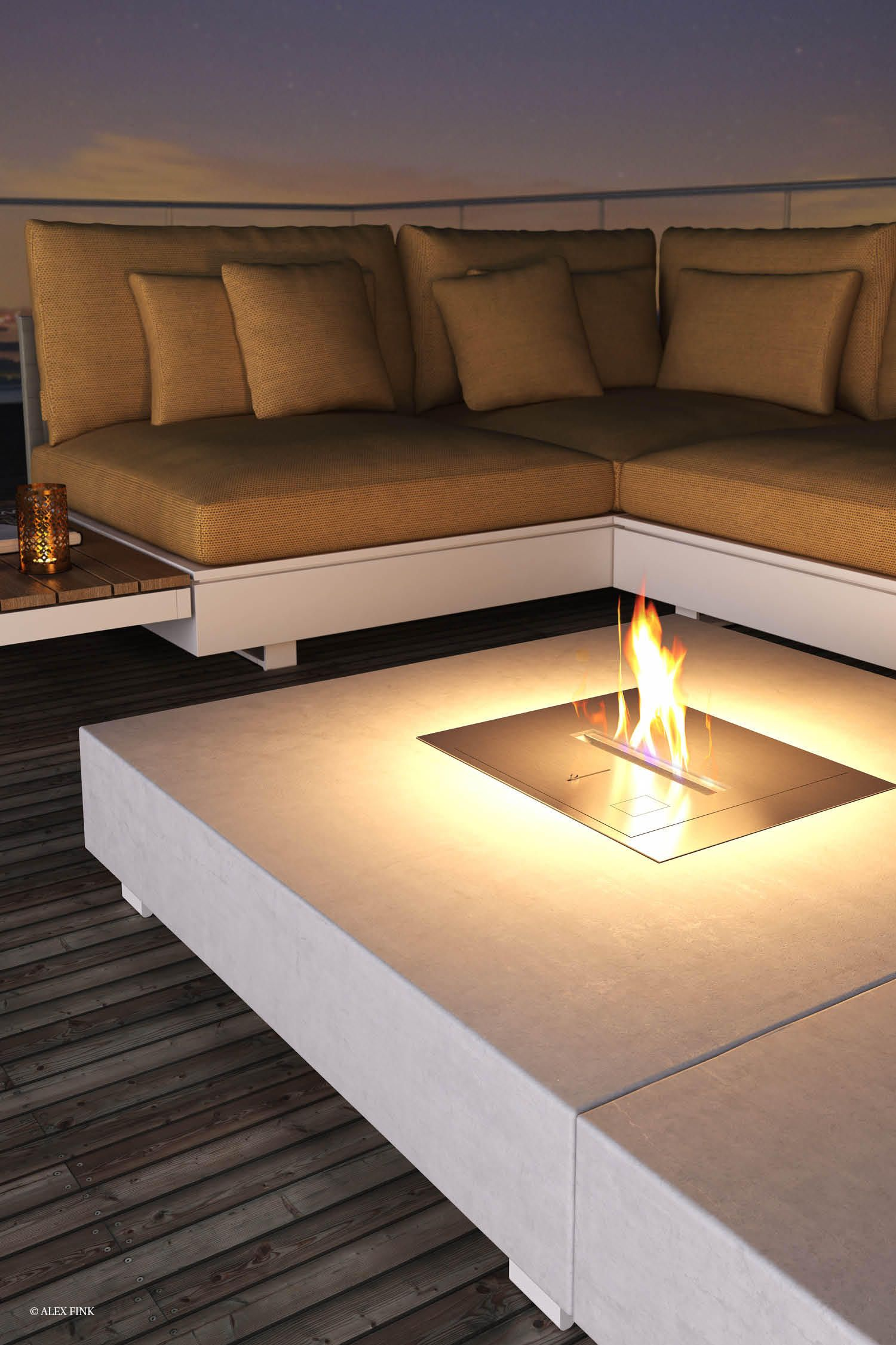 PURE COLLECTION   ETHANOL FIRETABLE - Designer Garden fire pits from ...
