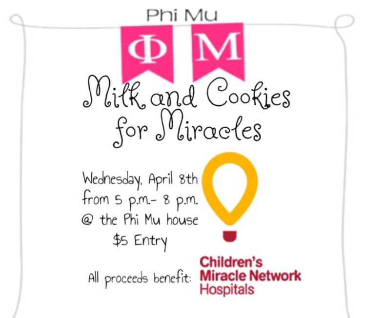 Milk Cookies For Miracles Cmnh Phimu Phi Mu Children S Miracle Network Hospitals Philanthropy