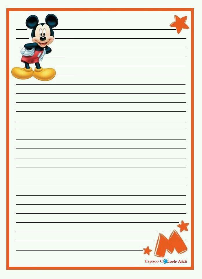 Papel De Carta Printable Lined Paper Disney Scrapbook Writing Paper Printable Stationery