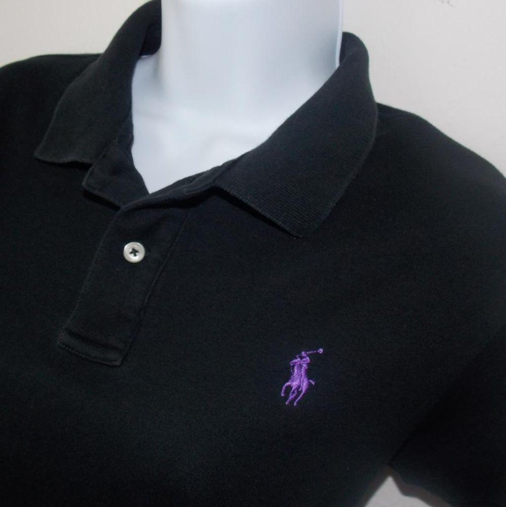 Black And Purple Ralph Lauren Polo Shirt