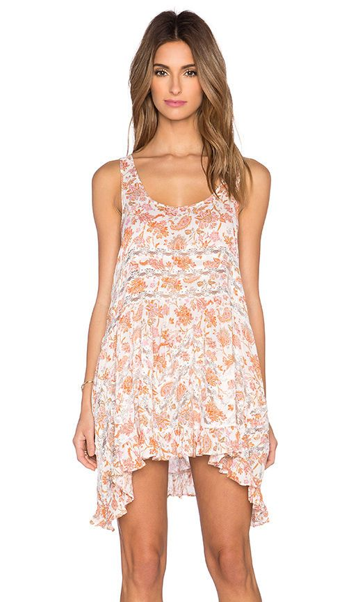 c3d0963bbe45 Free People Intimately Free Printed Voile and Lace Trapeze Slip Dress Boho  Small  FreePeople  SlipDress  Casual