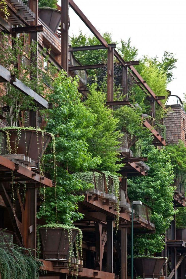 Appartement cologique dans un immeuble vert turin italie habitat pinterest - Immeuble vegetal ...