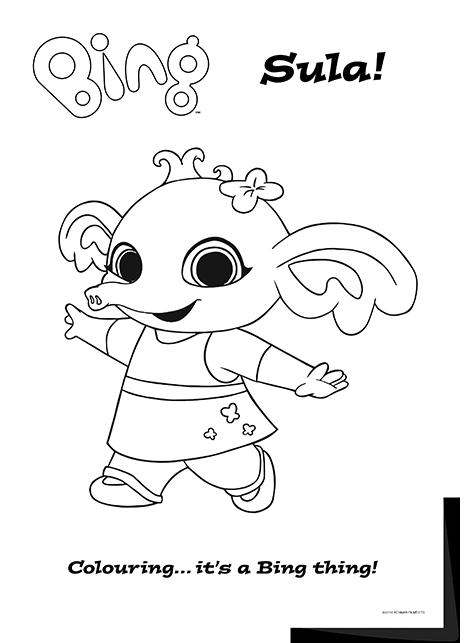 Bing Lineart Sula Bing Bunny Bunny Coloring Pages Bing Cbeebies