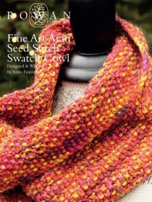 Free seed stitch cowl knitting pattern for beginners: get it at ...