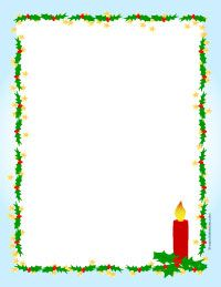 Holly And Candle Christmas Letter Paper  Christmas Stationary