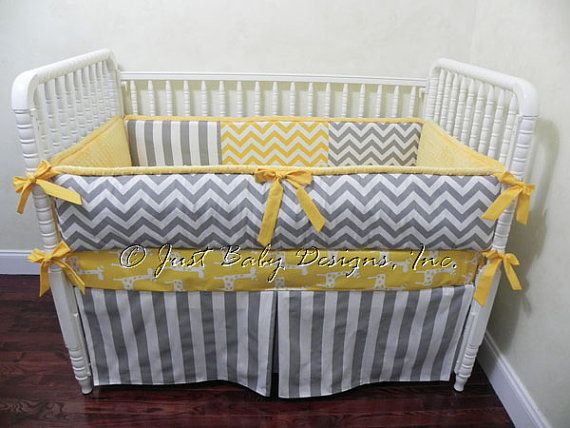 Custom Baby Bedding Set Bro Gray Chevron By Babybeddingbyjbd 239 00