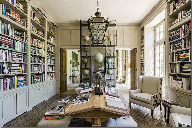 Love The Library Table! And Note How The Chair Is Covered. Home Of Helen  Ballard Weeks (of Ballard Designs) In Atlanta.