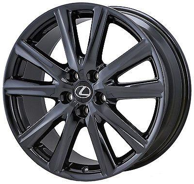 19 Lexus Es Es350 Es450 F Sport Black Chrome Wheels Rims Factory Set Oem 74296 Black Chrome Wheels Wheel Rims Lexus Es