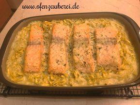 Lachs-Tagliatelle mit Sahnesauce in der Ofenhexe von Pampered Chef®