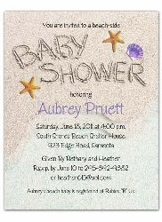 baby shower invitations beach side theme party | my photos : baby, Baby shower invitations