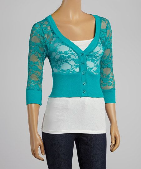 Teal Lace Cardigan | My Style | Pinterest | Teal, Clothes and Clothing