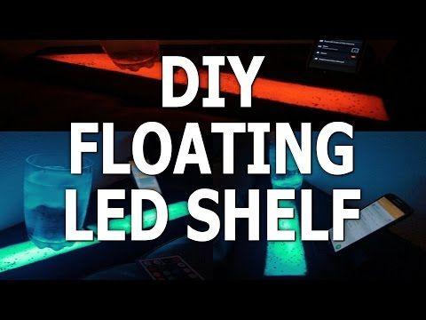 Led Strip Floating Shelf Furniture Lighting Led Diy Floating Shelves Diy Floating Shelves