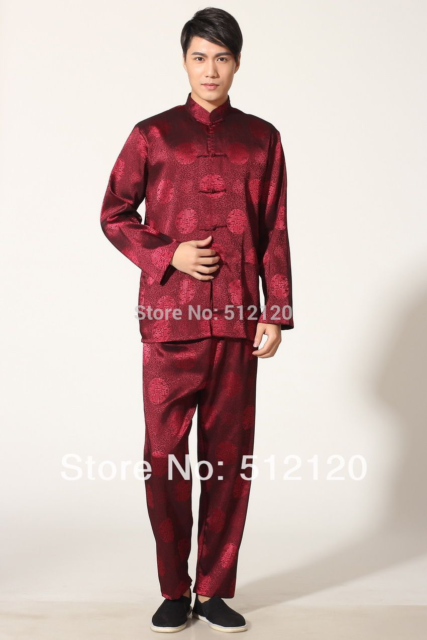 Free shipping New Long Sleeve Chinese Traditional clothing Red color shirt mandarin collar kung fu shirt  sc 1 st  Pinterest & Free shipping New Long Sleeve Chinese Traditional clothing Red color ...