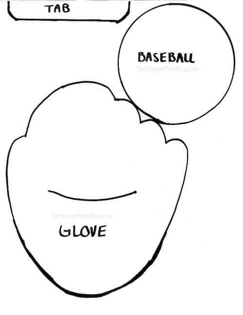 Free Baseball Glove Pattern Kids Fathers Day Crafts Fathers Day
