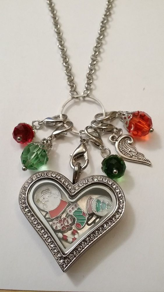 Living Floating Memory Heart Locket Love The Holidays Origami Owl
