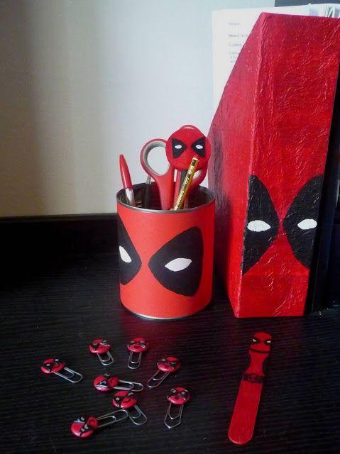 Set de bureau Deadpool [DIY] | AMPA | Pinterest