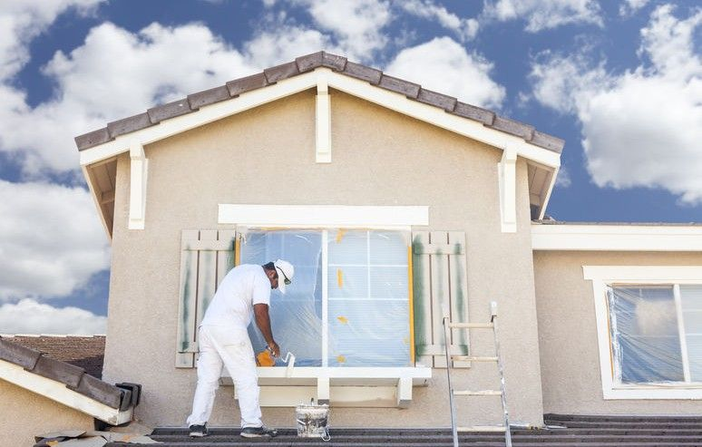 How Much Does A Painter Charge House Paint Exterior House Painting Painting House Trim