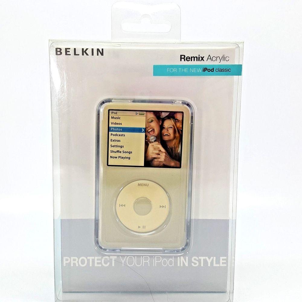 Belkin clear remix acrylic case for ipod classic belkin